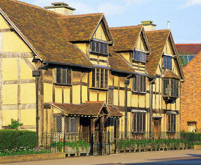 The House In Henley Street Stratford Where William Shakespeare Was Born 1564